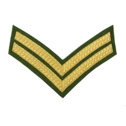 2 Bar Chevrons Corporal (Cpl) – Service Stripe - Intelligence Corps - British Army Badge
