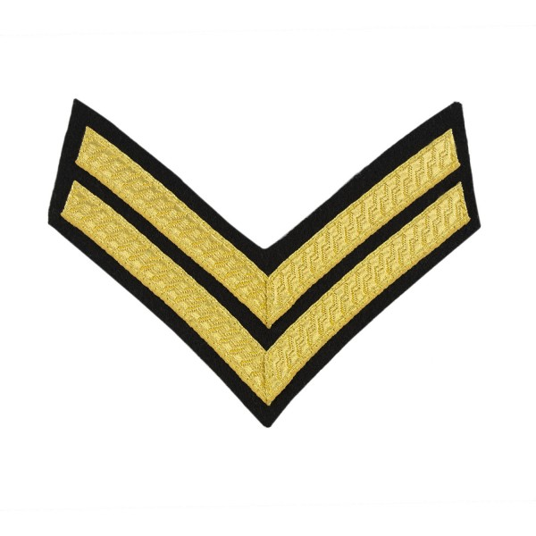 2 Bar Chevron Corporal (Cpl) – Service Stripe - Royal Tank Regiment, Mercian Regiment - British Army Badge