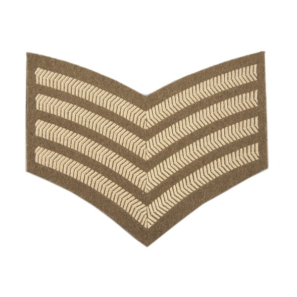 4 Bar Chevrons Drum Major – Service Stripe – Honourable Artillery Company - Royal Artillery - British Army Badge