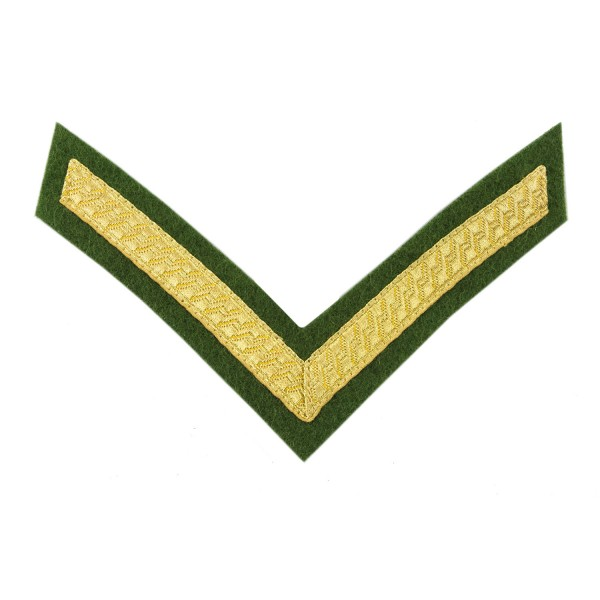 1 Bar Chevrons Lance Corporal (LCpl) – Service Stripe - Intelligence Corps - British Army Badge