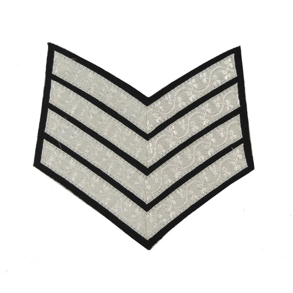 4 Bar Chevrons Drum Major Northern Irish Band (TA) – Service Stripe - Royal Irish Regiment