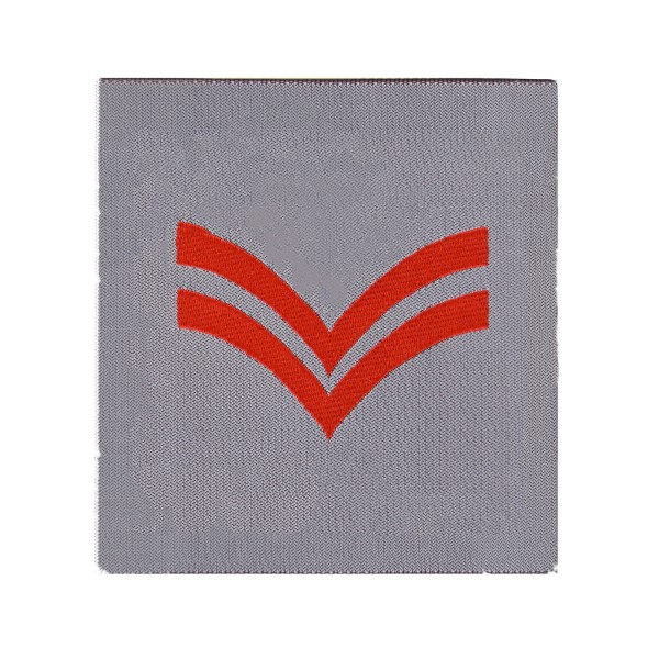 2 Bar Chevron Corporal Rank Patch - QARANC - Army Medical Services Badge - British Army Badge