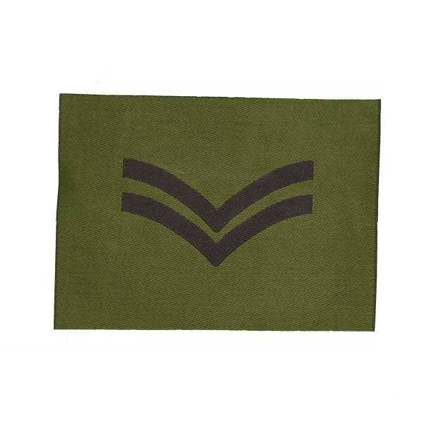 2 Bar Chevron - Corporal  – Rank Patch - British Army Badge
