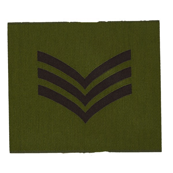 3 Bar Chevron - Sergeant (Sgt)  – Rank Patch - British Army Badge