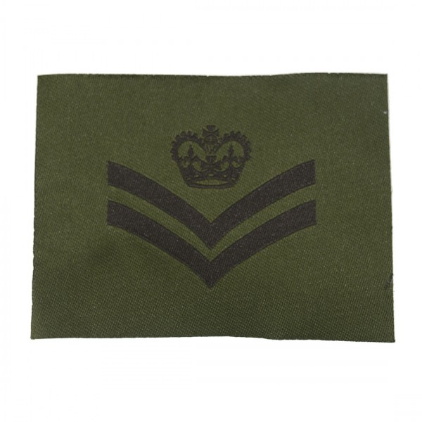 2 Bar Chevron with Crown - Corporal of Horse – Rank Patch - British Army Badge