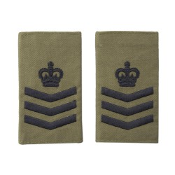 Colour Sergeant Olive Green Slider Epaulette Badge - Sea Cadets