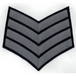 4 BAR CHEVRONS Drum Major - SERVICE STRIPE - ROYAL AIR FORCE BAND BADGE
