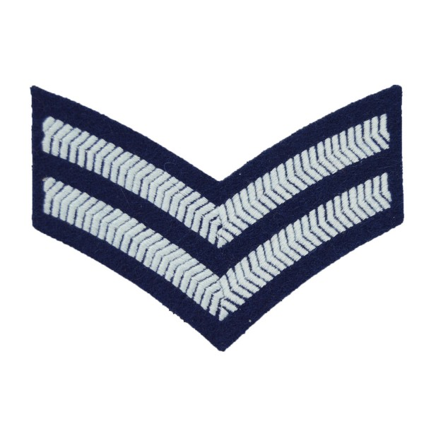 2 Bar Chevrons Corporal – Service Stripe – Royal Air Force Badge