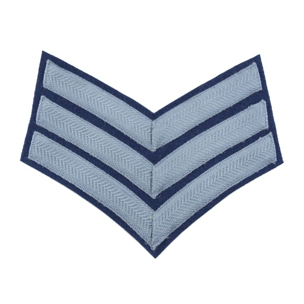 3 Bar Chevrons Sergeant (Sgt) - Service Stripe - Royal Air Force Band Badge