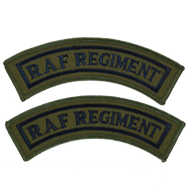 Royal Air Force Regiment Olive – Shoulder Title Flash - Royal Air Force Badge