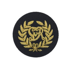 Kings Badge Blue - Royal Marines (RM) Qualification - Royal Navy Badge