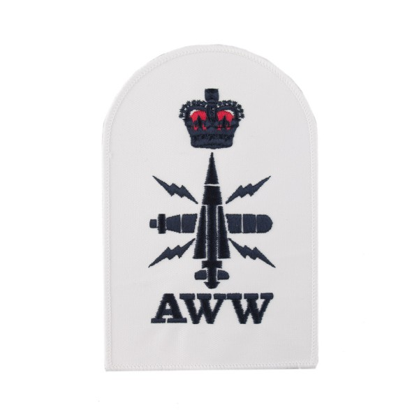 Above Water Weapons (AWW) - Petty Officer (PO) - Royal Navy Badge
