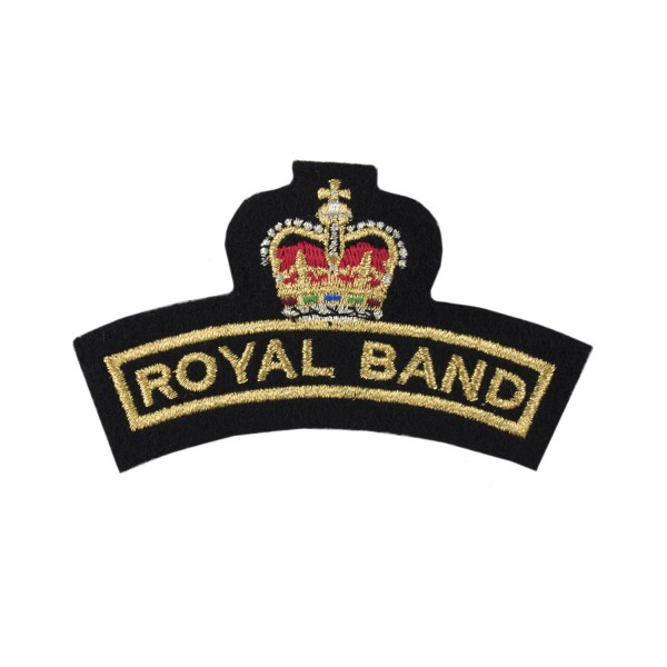 Royal Band - Shoulder Flash - Royal Navy Organisation Badge