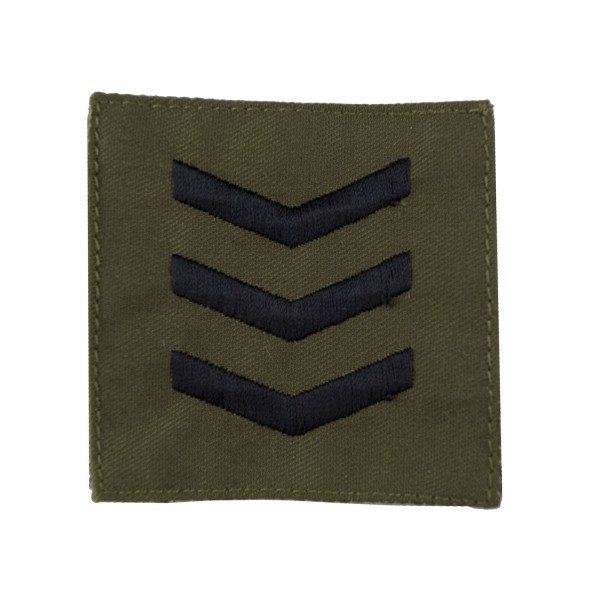 3 Bar Chevrons - Sergeant Rank Badge – Royal Marines – Royal Navy Badge