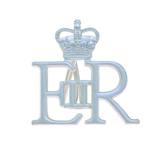 Large Silver Royal Cypher and Crown - Royal Navy (RN)