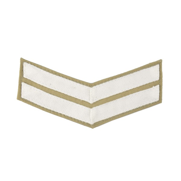 2 Bar Chevrons Corporal (Cpl) – Service Stripe - Royal Marines Badge