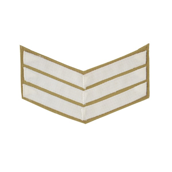 3 Bar Chevrons Sergeant (Sgt) – Service Stripe - Royal Marines Badge
