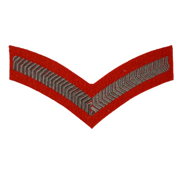1 Bar Chevron Lance Corporal (LCpl) – Service Stripe - Army Medical Services - British Army Badge