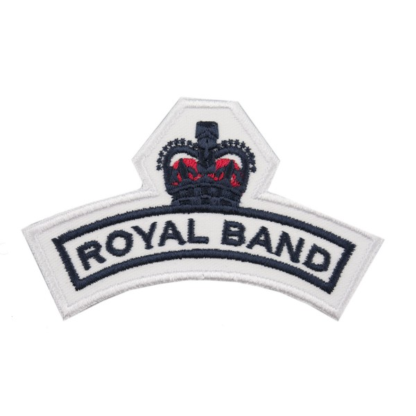 Royal Band Shoulder Title Flash - Royal Navy Badge