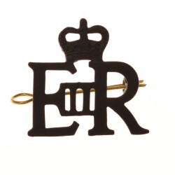 EIIR Large Black Royal Cypher and Crown - British Army