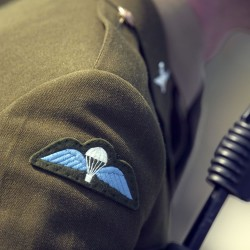 The Special Forces Support group Paratroopers badge worn in full dress.
